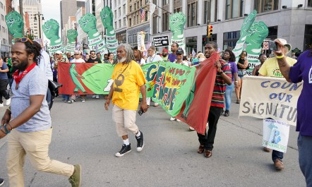 frontline-detroit-rally-1.jpg Thousands of people took to the streets of Detroit at the Frontline Detroit March and Rally on July 30, ahead of the Democratic presidential debate. Photo from The Aadizookaan