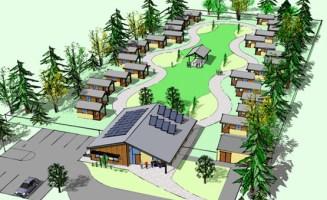 Architect's rendering of Quixote Village. Image courtesy of Panza.