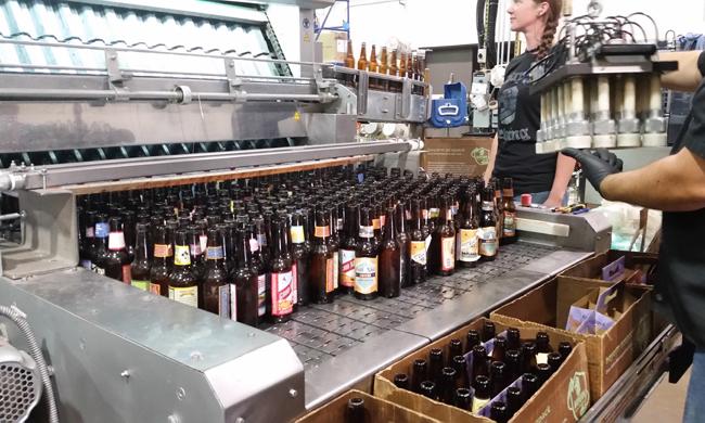 Bayern Brewing's bottle-washing machine. Photo courtesy of Bayern Brewing.