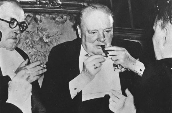 Winston Churchill at the Potsdam Conference