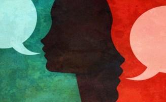 Conversation illustration from Shutterstock
