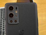 OnePlus 9 Pro Stellar (Sandstone) Black poses for the camera