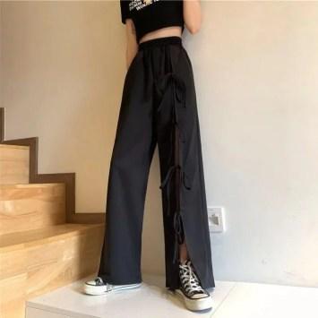 Bobabomba Bow Detail Wide Leg Pants e1623398653871