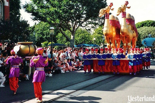 Golden Camels Aladdin Parade Hollywood Studios