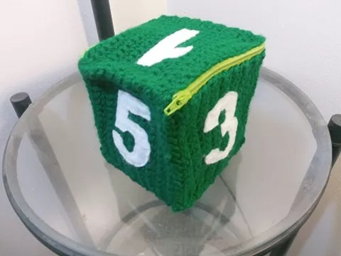 D6 Crochet Dice Bag