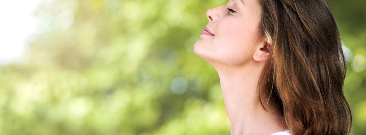 femme qui respire profondément