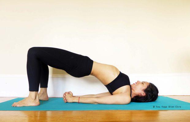 Setu Bandha Sarvangasana la Posture du Petit Pont par Yes Yoga Bien Etre