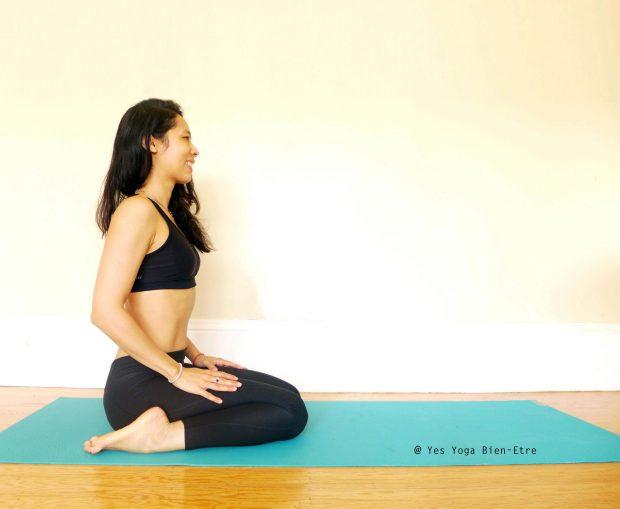 Virasana la Posture du Hero par Yes Yoga Bien Etre