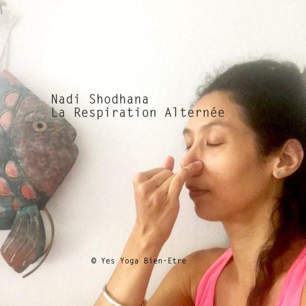 Nadi Shodhana la Respiration Alternée avec Vishnu Mudra