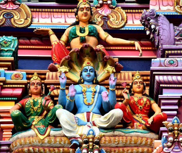 Image de Vishnu sur un temple