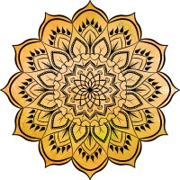 Mandala Jaune - Cours de Yoga, de méditation, de Reiki, chakras, Chamanisme, Energie