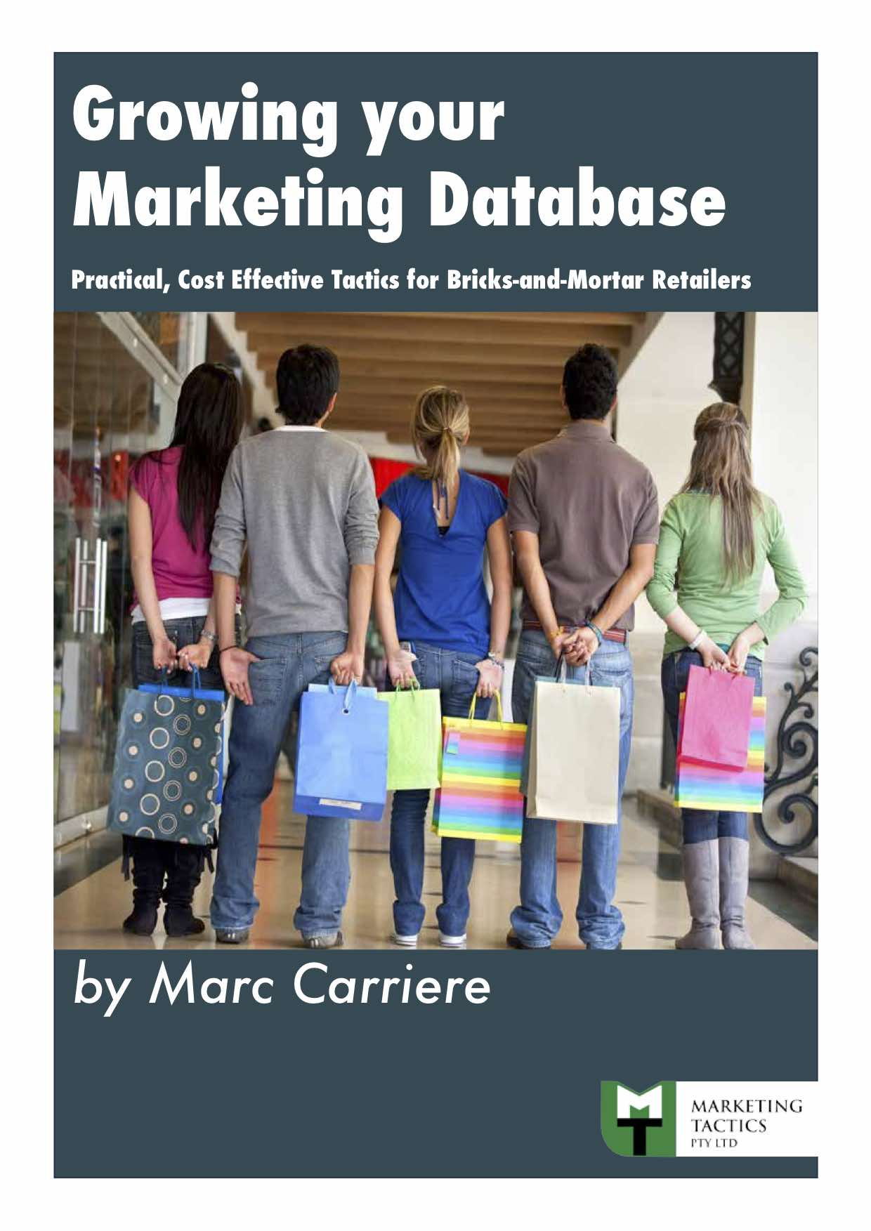 Growing your Marketing Database cover