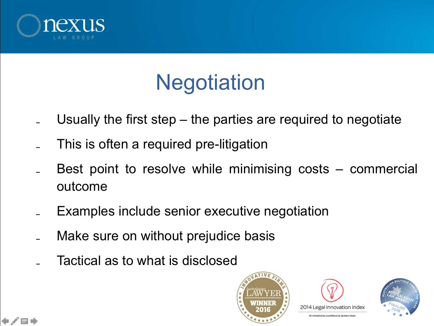 Negotiation Original
