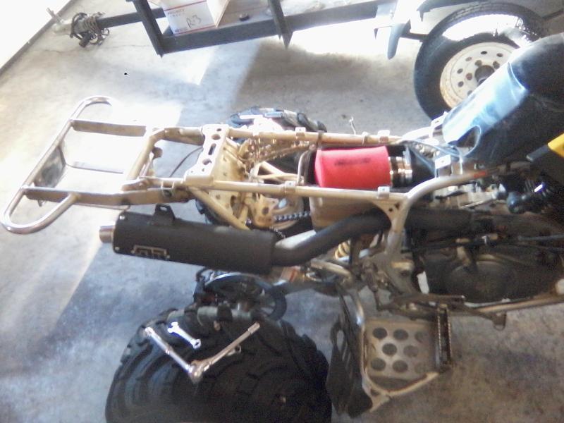 new intake and exhaust yamaha raptor