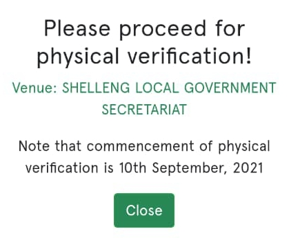 Npower physical verification date and venue