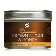 Ghanaian Brown Sugar Honey All Natural Soy Candle In Tin