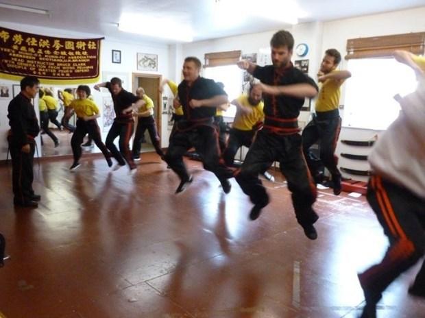 Flying Elbow Kung Fu!