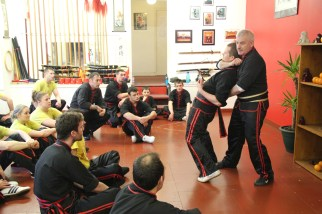 Si-Gung Bruce Clark instructs a sequence of moves at the Aberdeen seminar