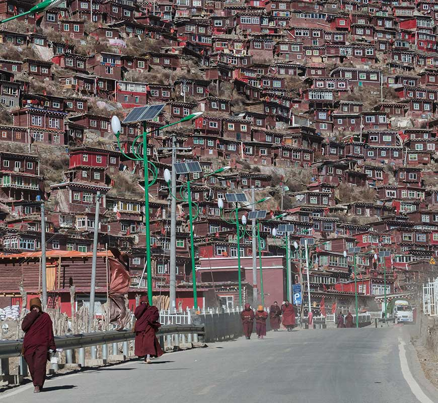 street view of larung gar