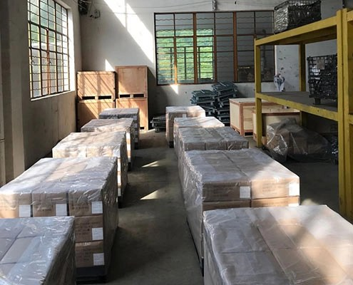 The packages of iron casting parts