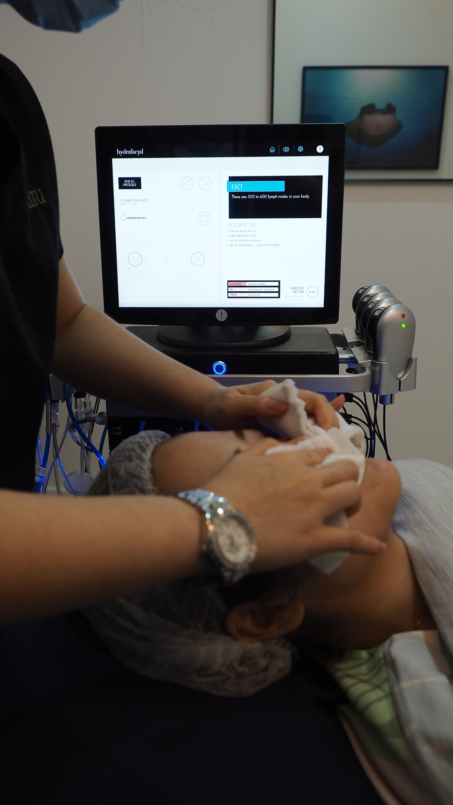 Cleansing before HydraFacial