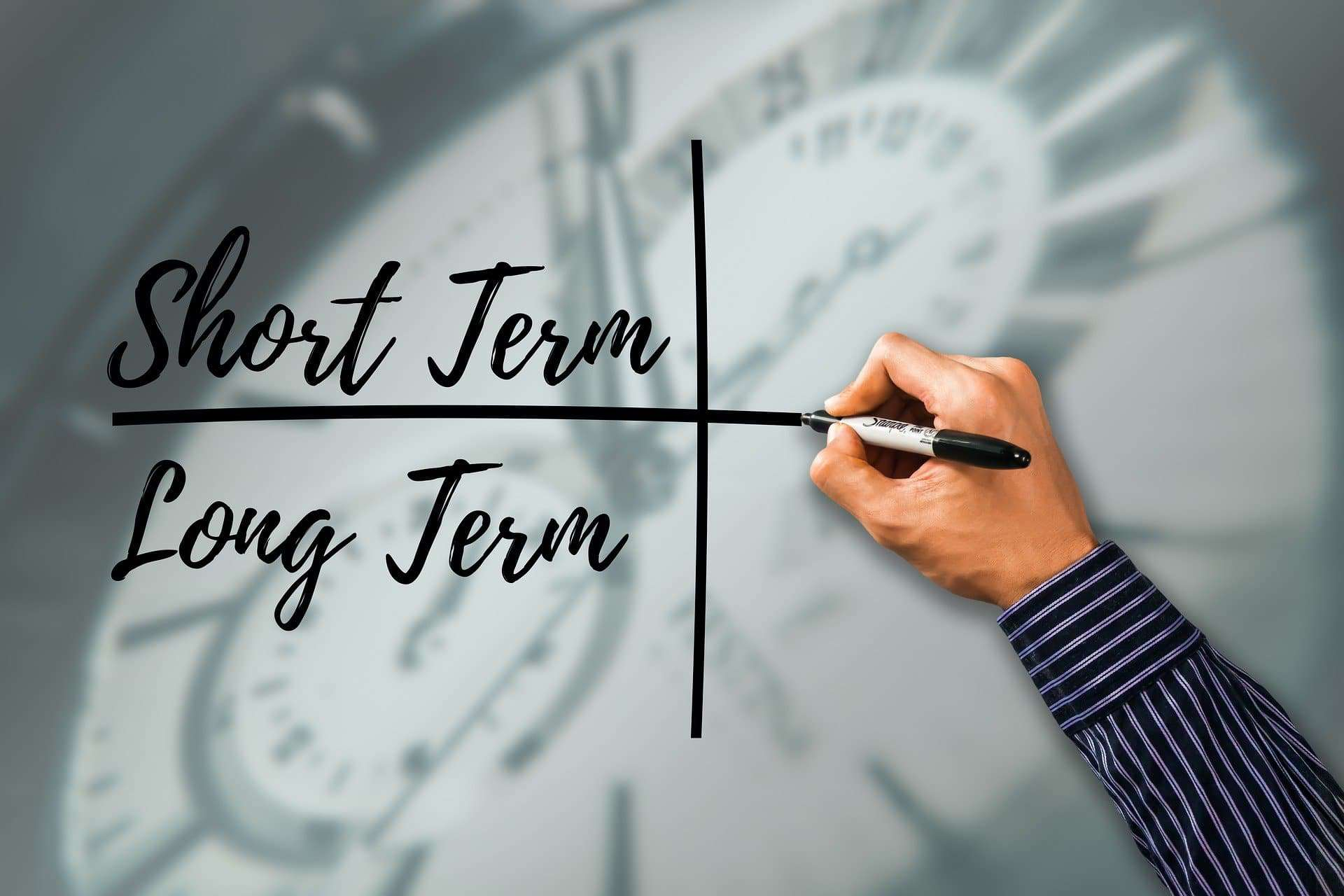 Long-Term vs Short-Term https://pixabay.com/illustrations/in-the-short-term-in-the-long-term-4488315/