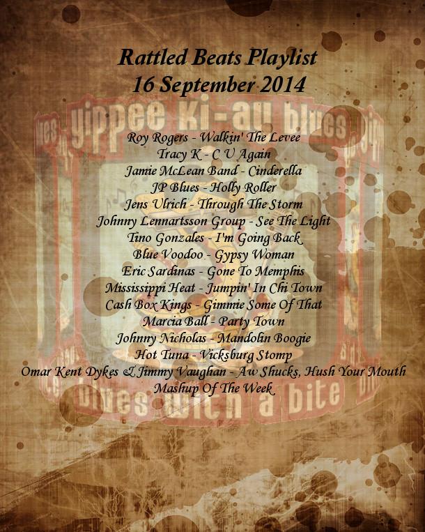 Rattled Beats Playlist 16 September Show