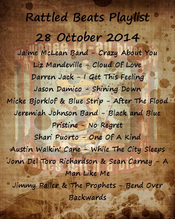 Rattled Beats Playlist October 28, 2014