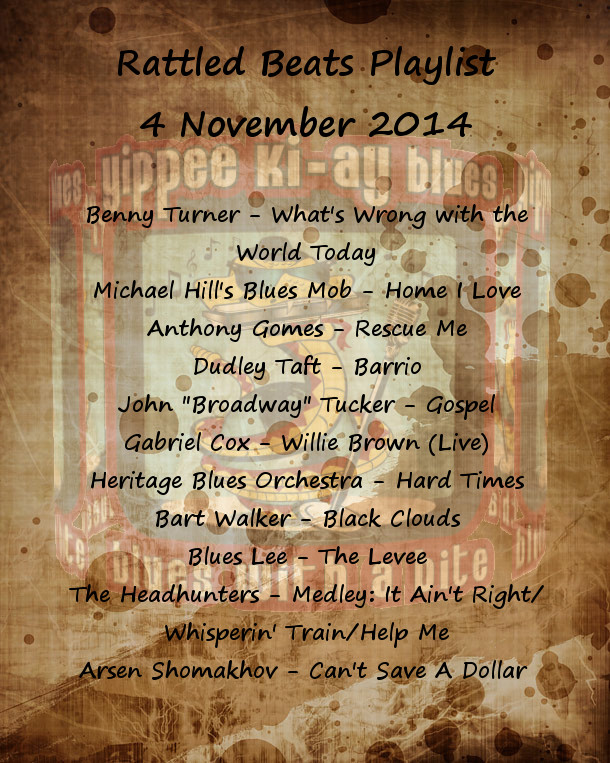 Rattled Beats Show Playlist 4 Nov 2014