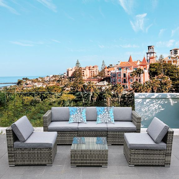 yitahome 6 piece outdoor sectional patio furniture sets