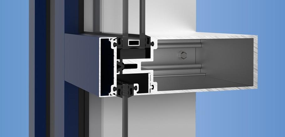 ycw 750 og ykk ap aluminum curtain