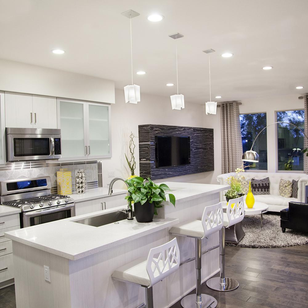 ideas on how to light a large kitchen