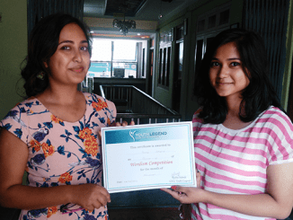 Sima Chand, Runner Up of Wordism Competition for the Month of Shrawan