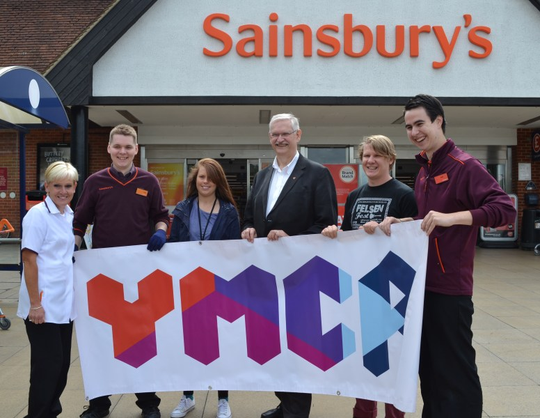 YMCA and Sainsbury's staff