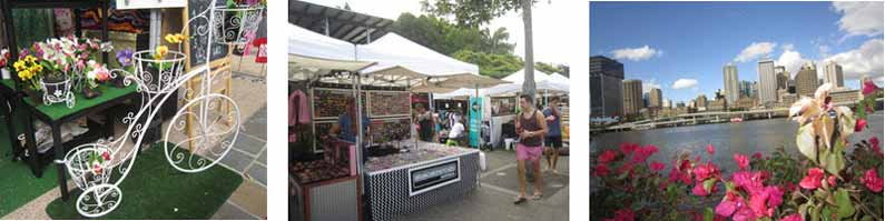Your Missing Link visits the Saturday Market on the South Bank of Brisbane River