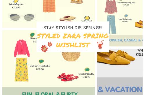 Styled Zara spring wishlist