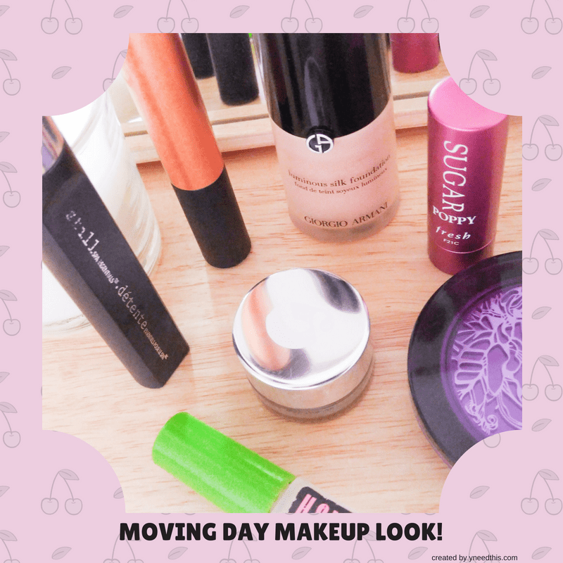 Moving Day Makeup Look