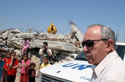 Richard Goldstone em Gaza (foto: AP)