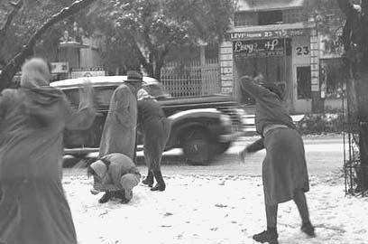Image result for שלג 1950 ישראל תמונות