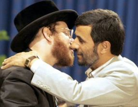Ahmadinejad tries to make out with Jewish man
