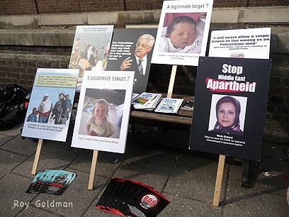 """""""80% לא מתעניינים בסכסוך"""". הפגנה פרו-ישראלית בלונדון (צילום: רועי גולדמן)"""