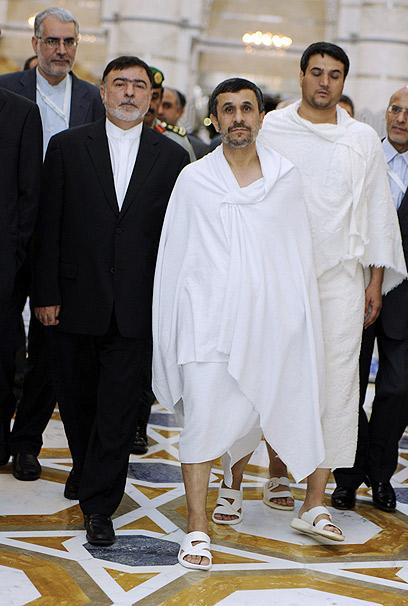 נשיא איראן אחמדינג'אד בוועידת מדינות האיסלאם במכה (צילום: AFP)