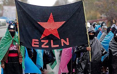 EZLN marcha en Chiapas (Foto: AFP)