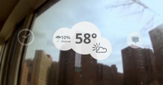 óculos de realidade aumentada - previsão do tempo