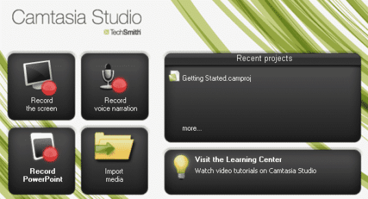 Camtasia Studio - Ferramentas