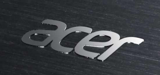 Acer logo em um bom notebook