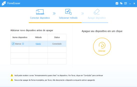 Como limpar o Iphone: Aiseesoft FoneEraser - Passo 2