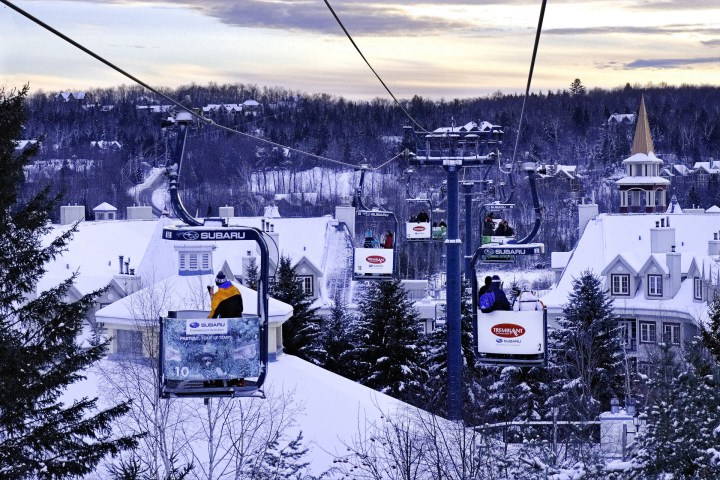 A view of Mont Tremblant