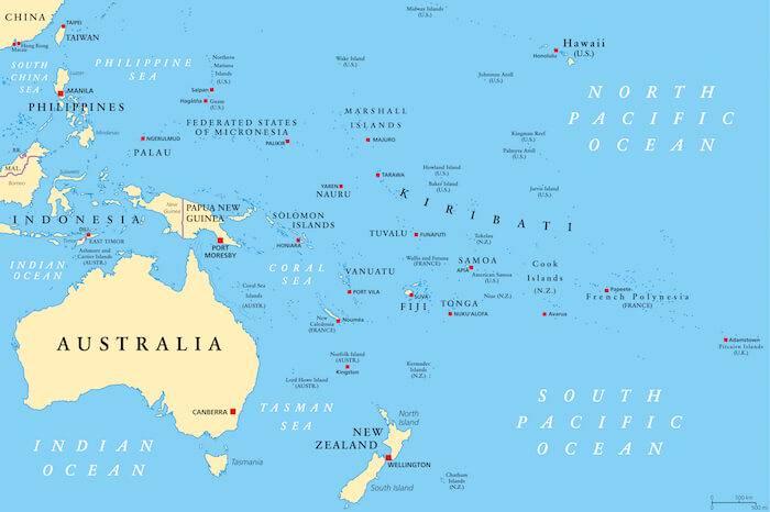Australia and the Pacific Ocean, Oceana