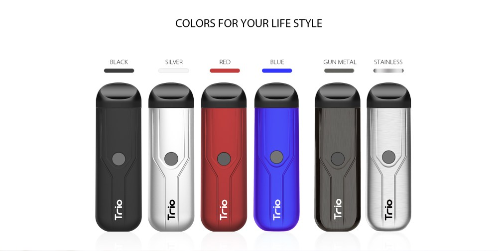 Yocan Trio Vape Pen come with 6 colors.